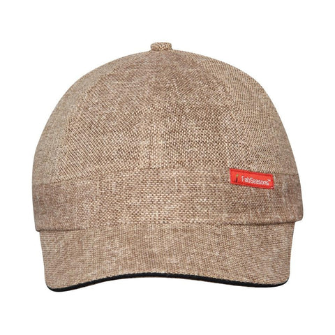 Fabseasons Brown Short Peak Cap