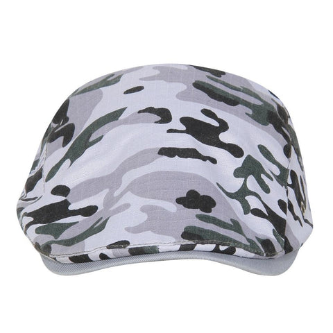 Fabseasons Grey Camouflage Adjustable Size Unisex Golf Flat Cap