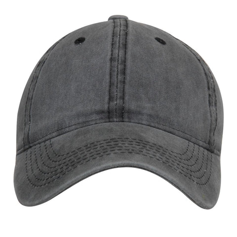 Fabseasons Grey Washed Cotton Denim Unisex Baseball Summer Cap