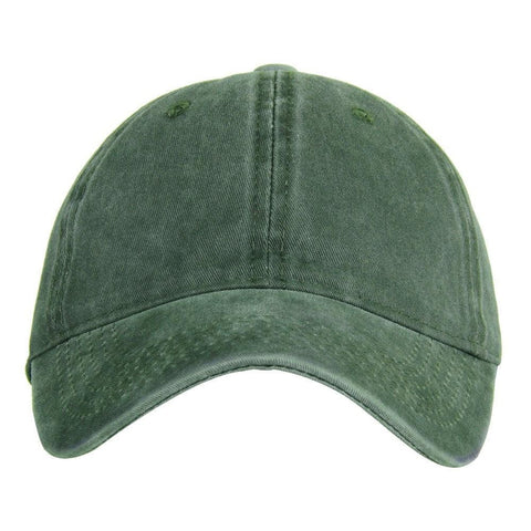 Fabseasons Green Washed Cotton Denim Unisex Baseball Summer Cap