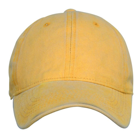 Fabseasons Yellow Washed Cotton Denim Unisex Baseball Summer Cap