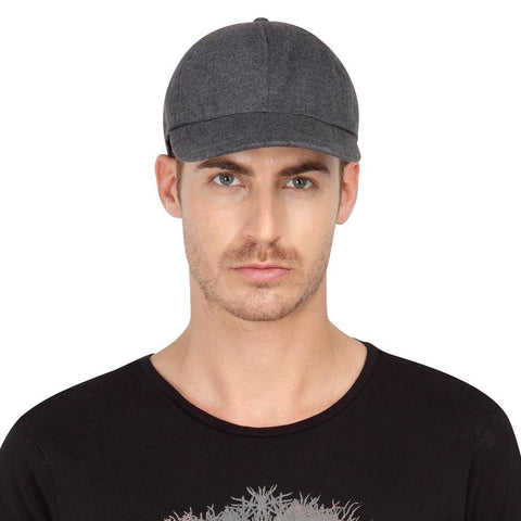 Fabseasons Dark Grey Cotton Unisex Summer Cap