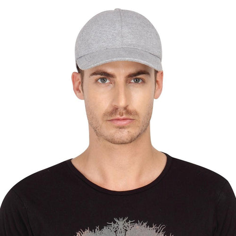 Fabseasons Grey Cotton Unisex Summer Cap