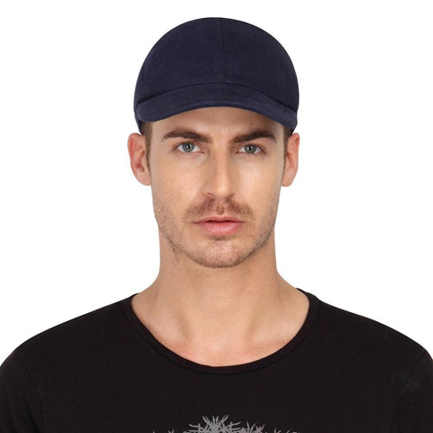 Fabseasons Navy Blue Cotton Unisex Summer Cap