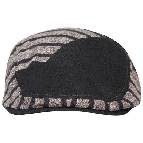 Fabseasons Brown Strips Designed Unisex Golf Flat Cap