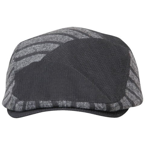 Fabseasons Dark Grey Strips Designed Unisex Golf Flat Cap