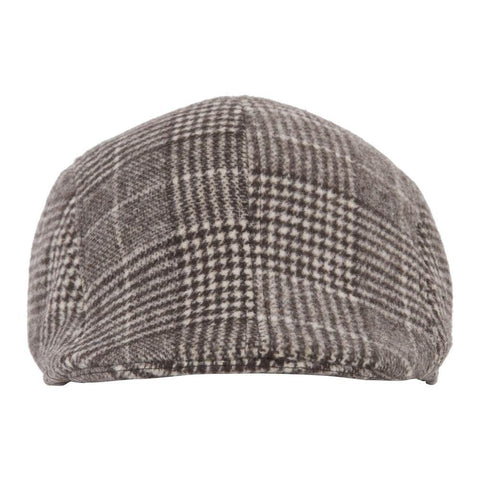 Fabseasons Brown Checkered Golf Flat Cap