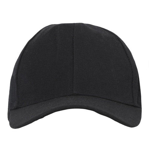 Fabseasons Black Solid - Plain Cotton Unisex Baseball Summer Cap & Hat