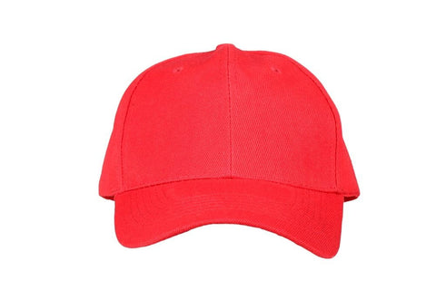 Fabseasons Red Solid - Plain Cotton Unisex Baseball Summer Cap & Hat