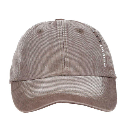 Fabseasons Light brown Unisex Washed Faded Cotton Corduroy Baseball Summer Cap
