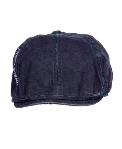 Dark Blue Premium Cotton Golf Flat Cap