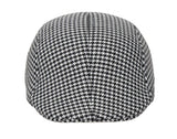 Fabseasons White Checkered Polyester Golf Flat Cap