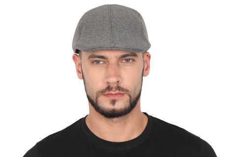 Solid Polyester Golf Flat Cap