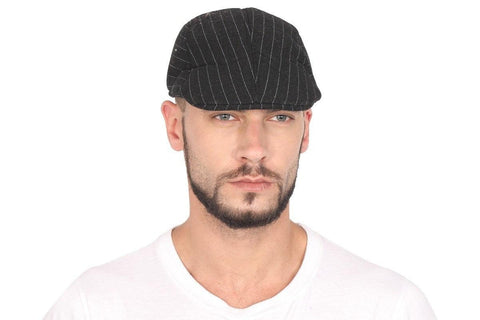 Striped Polyester Golf Cap