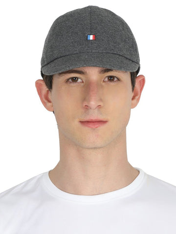 FabSeasons Darkgrey Solid Short Peak Cotton Baseball / Summer cap