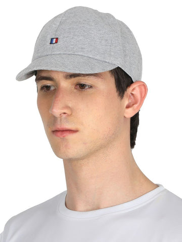 FabSeasons Grey Solid Short Peak Cotton Baseball / Summer cap
