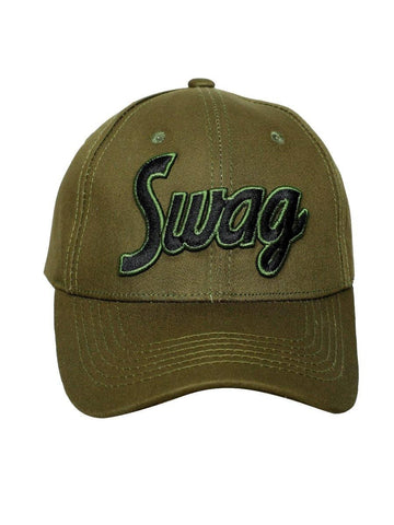 FabSeasons Swag Green Cotton Baseball Cap