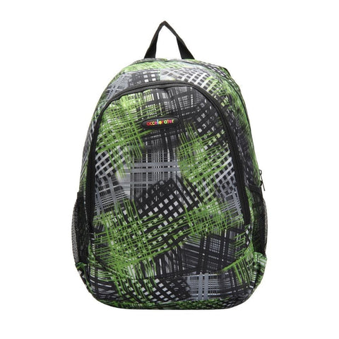FabSeasons Green Accelorator Polyester Graphic Printed Backpack
