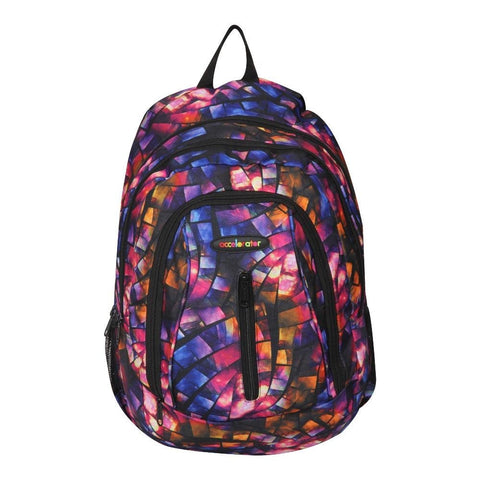 FabSeasons Blue with Multicolor Polyester Graphic Printed Backpack