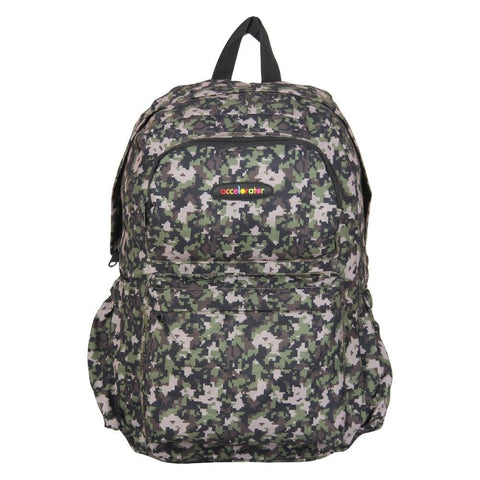 FabSeasons Green Camouflage Polyester Graphic Printed Backpack