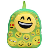 FabSeasons Plush Faux Fur Smiley Face Kids Bag / Backpack