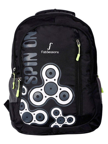 FabSeasons Fidget Spinner Print Black Backpack