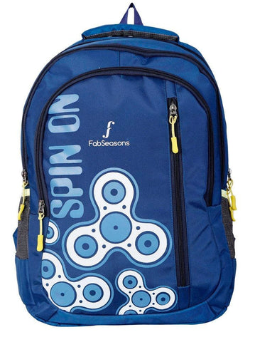 FabSeasons Fidget Spinner Print Blue Backpack