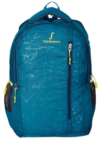 FabSeasons Printed Space Blue Backpack for Multipurpose use