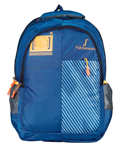 FabSeasons Printed Blue Backpack with Raincover and Laptop holder