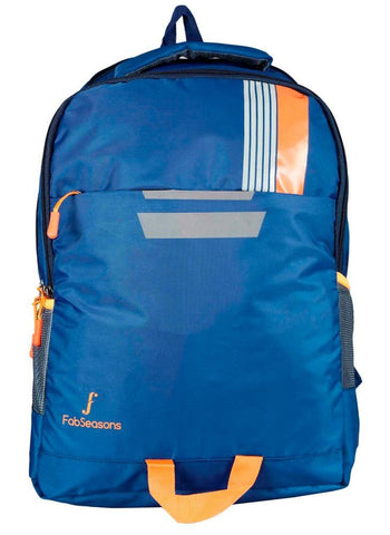 FabSeasons Printed Blue Backpack Bag with reflector patch