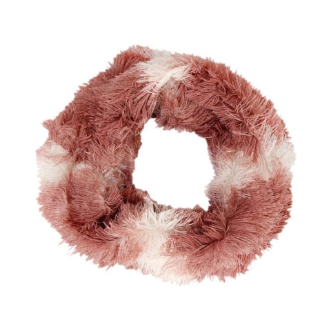 FabSeasons Pink Faux Fur Neck Warmer