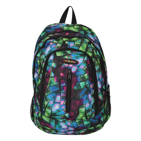 FabSeasons GreenBlue with Multicolor Polyester Graphic Printed Backpack