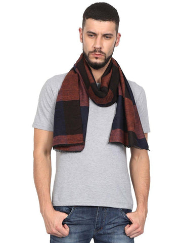 FabSeasons Men's Casual Checkered Acrylic Woolen Muffler