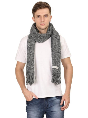 FabSeasons Dark Gray Unisex Woolen Scarf, Muffler, Shawl and Stole for Winters