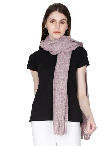 FabSeasons Light Purple Unisex Woolen Scarf, Muffler, Shawl and Stole for Winters