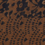 FabSeasons Brown Cotton Printed Scarf