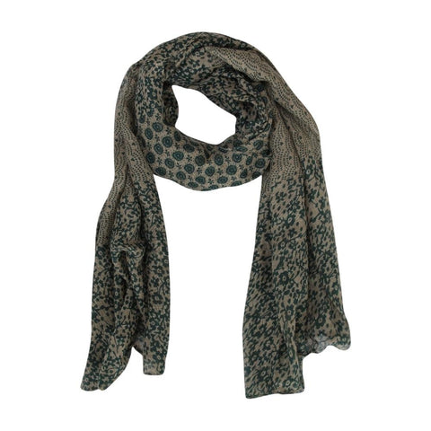 FabSeasons Green Cotton Printed Scarf
