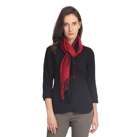 FabSeasons Solid Dual Tone - Double Color Cotton Unisex Scarf