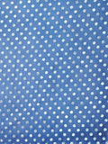 FabSeasons Casual Blue Cotton Solid Scarf with Printed Silver Polka Dots