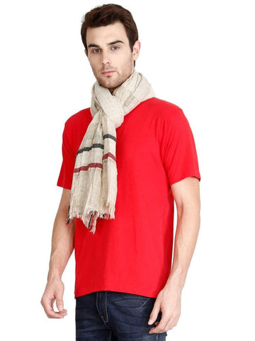 FabSeasons Casual Cotton-Rayon Beign Scarf