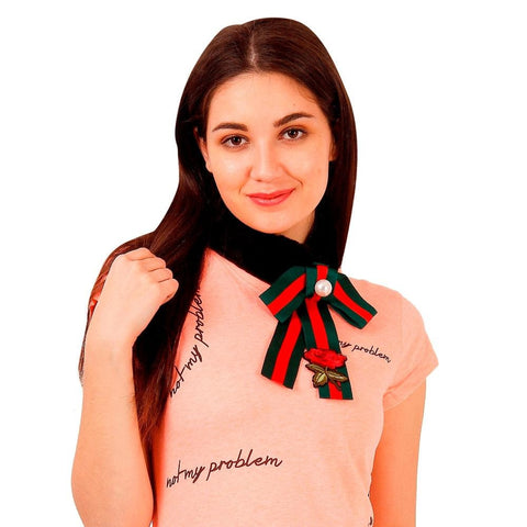 FabSeasons Black Faux Fur Fashion Neck Scarf