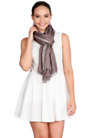 FabSeasons Grey Cotton Super Soft & Stylish Viscose Scarf