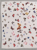 FabSeasons Grey Viscose Butterfly Printed Soft & Stylish Scarf