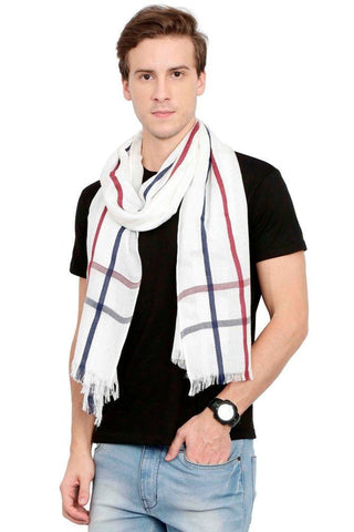 FabSeasons Casual Checkered Men's Cotton Scarf
