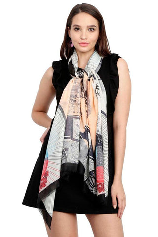 FabSeasons Viscose Abstract Black Printed Soft & Stylish Scarf