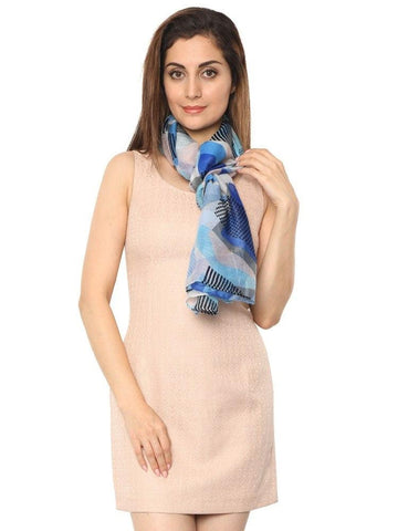 FabSeasons Abstract Printed Cotton Scarf
