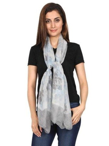 FabSeasons Floral Printed Cotton Scarf, Scarves