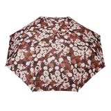 FabSeasons Brown Floral Printed 3 Fold Fancy Automatic Umbrella