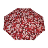 FabSeasons Red Floral Printed 3 Fold Fancy Automatic Umbrella