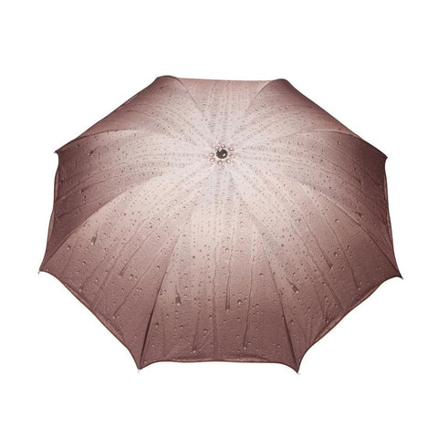 FabSeasons Rain Drops Printed 3 Fold Fancy Brown Umbrella